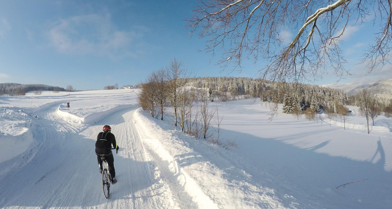 karkonosze zima rower