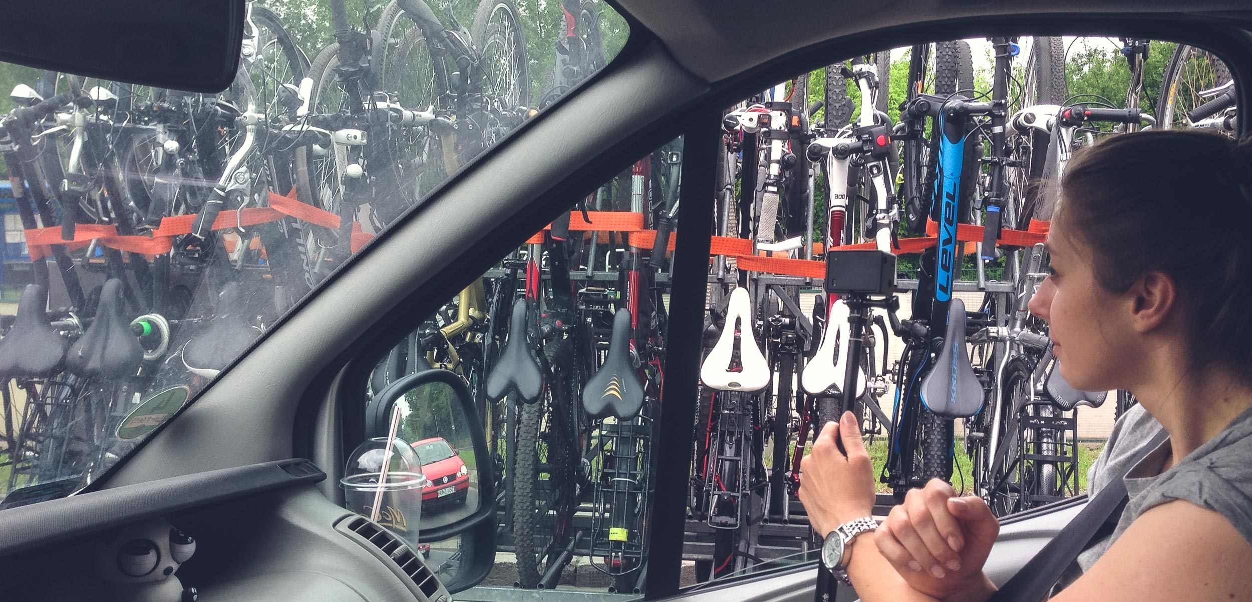 transport rowerów przyczepa