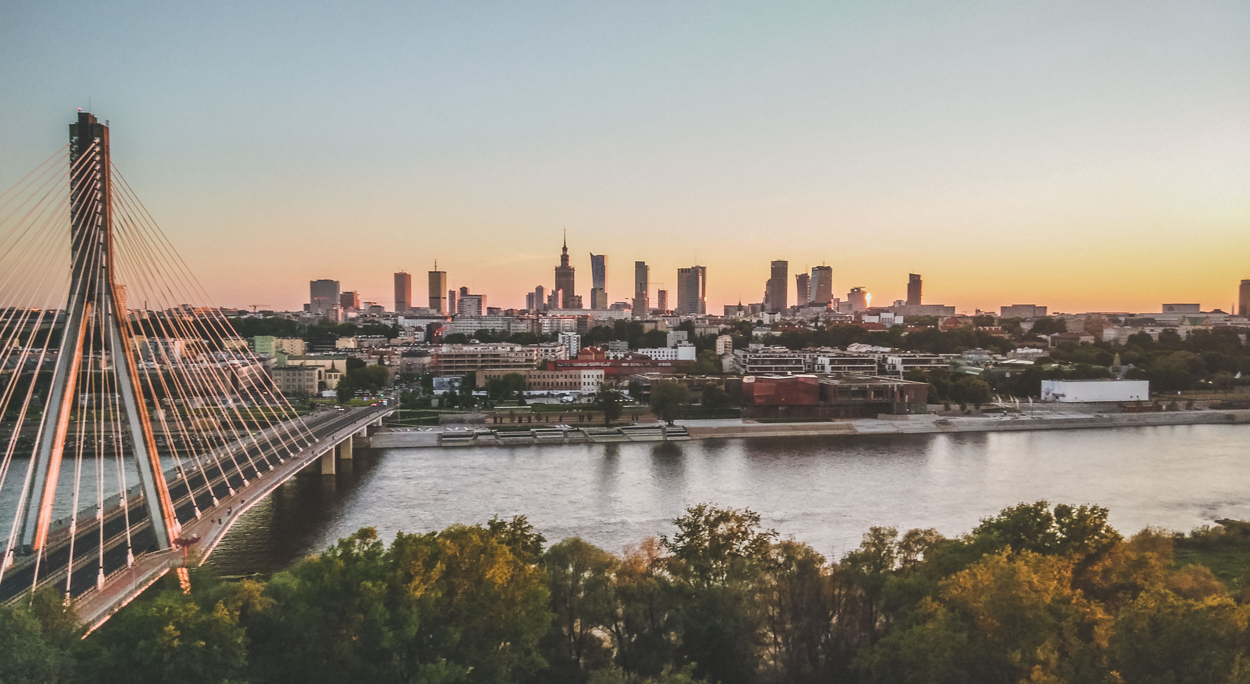 Warsaw from the drone